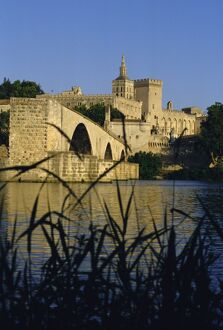 The River Rhone at Avignon, Provence, France