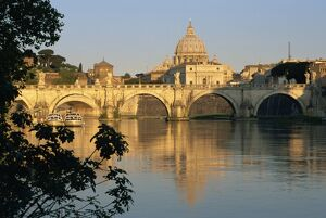 River Tiber and Ponte Sant'Angelo, St