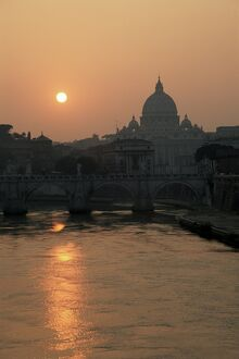 River Tiber and the Vatican
