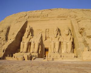 Rock cut Temple of Ramesses II (Rameses the Great) (Ramses the Great), Abu Simbel