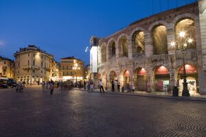Roman Arena at night, Verona, Italy