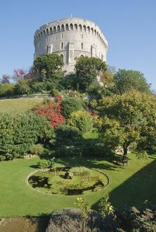 The Round Tower and gardens in Windsor Castle, home to Royalty for 900 years