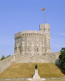 The Round Tower, Windsor Castle, Berkshire, England, UK