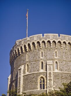The Round Tower at Windsor Castle, Berkshire, England, United Kingdom, Europe