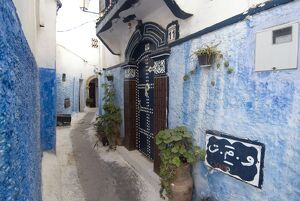 Route in the Kasbah, Rabat, Morocco, North Africa, Africa