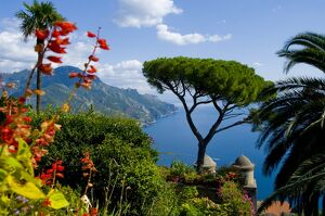 Rufolo view, Ravello, Amalfi Coast, UNESCO World Heritage Site, Campania, Italy, Europe