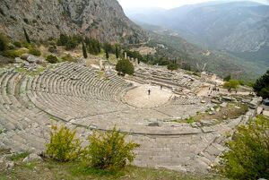 The ruins of ancient Delphi, UNESCO World Heritage Site, Greece, Europe