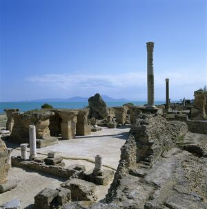Ruins of ancient Roman baths, Antonine Baths, Carthage, UNESCO World Heritage Site