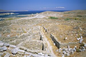 Ruins on the holy island of Delos