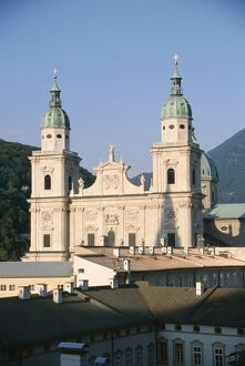 Salzburg Cathedral, built between 1614 and 1655, designed by Italian architect Santino Solari