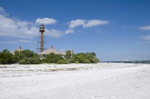 Sanibel lighthouse, Sanibel Island, Gulf Coast, Florida, United States of America