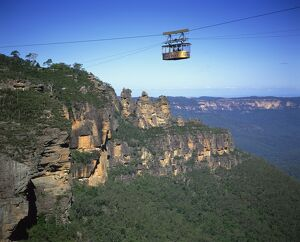 The scenic skyway above the Three Sisters at Katoomba in the Blue Mountains of New South Wales