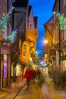 The Shambles at Christmas, York, Yorkshire, England, United Kingdom, Europe