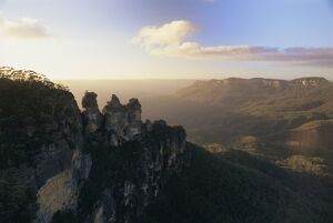 The Three Sisters from Echo Point, Katoomba, the Blue Mountains, west of Sydney