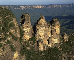 The Three Sisters from Echo Point at Katoomba in the Blue Mountains of New South Wales
