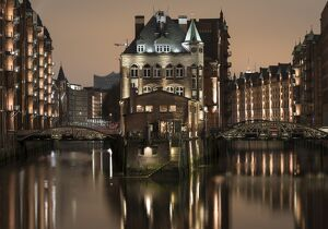 speicherstadt district hafencity hamburg germany