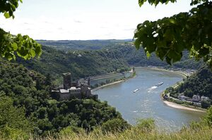 St. Goarshausen, Katz Castle and the River Rhine, Rhine Valley, Rhineland-Palatinate