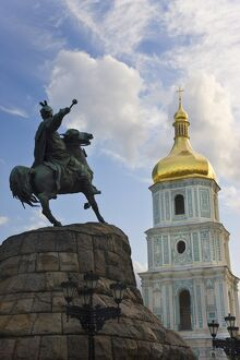 St. Sophia Cathedral, UNESCO World Heritage Site, and Bohdan Khmelnytsky statue