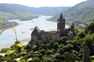 Stahleck Castle, Bacharach, Rhine Valley, Rhineland-Palatinate, Germany, Europe