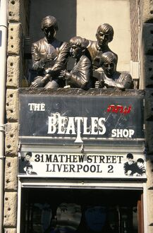 Statues of the Beatles, the Cavern Quarter, Liverpool, England, United Kingdom, Europe