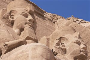 Statues of Ramses II (Ramses the Great) outside his temple, Abu Simbel