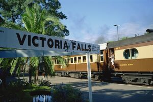 Steam Rail Safaris, Victoria Falls Station, Zimbabwe, Africa