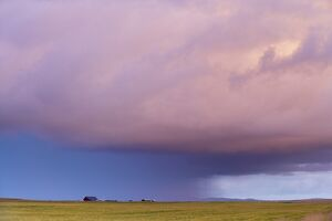 A storm near Hella in the south-west of Iceland (Sudurland), Iceland, Polar Regions
