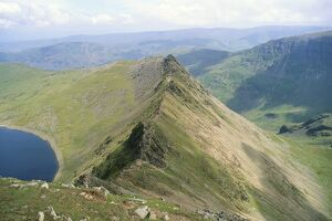 Striding Edge, Helvellyn, Lake District National Park, Cumbria, England