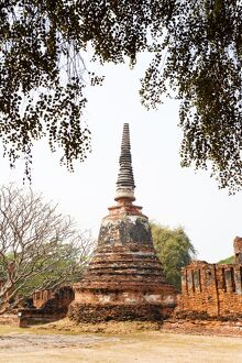 Stupa at Wat Phra Si Sanphet in the Ancient Historical Park of Ayutthaya City, UNESCO World Heritage Site, Thailand, Southeast Asia, Asia