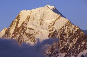 Sunset on the West Face of Aoraki (Mount Cook)