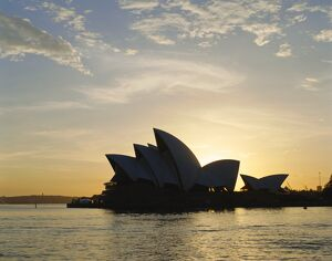 The Sydney Opera House in the evening, Sydney, New South Wales, Australia