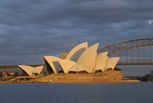 The Sydney Opera House and harbour, Sydney, New South Wales, Australia, Pacific