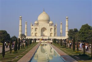 Taj Mahal on the banks of the Yamuna River