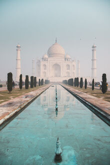 taj mahal turquoise water dawn unesco world heritage