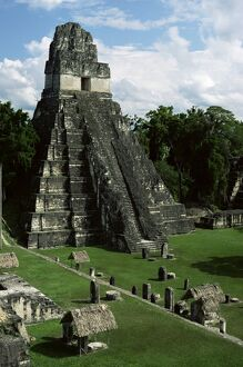 Temple of the Great Jaguar in the Grand Plaza