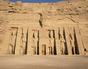 Temple of Hathor, built for queen Nefretare, Abu Simbel, UNESCO World Heritage Site