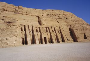 Temple of Hathor in honour of Nefretare, was moved when Aswan High Dam was built