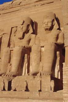 Temple of Re-Herakhte for Ramses II, moved when Aswan Dam built, Abu Simbel
