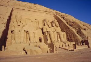 The Temple of Re-Herakhte for Ramses II which was moved when the Aswan High Dam was built