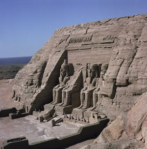 Temple of Re-Herakte built for Ramses II, Abu Simbel, UNESCO World Heritage Site