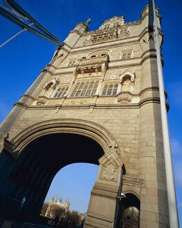 Tower Bridge with the Tower of London visable through the arch, London
