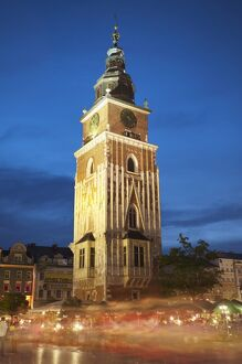 Town Hall Tower in Main Market Square (Rynek Glowny), UNESCO World Heritage Site