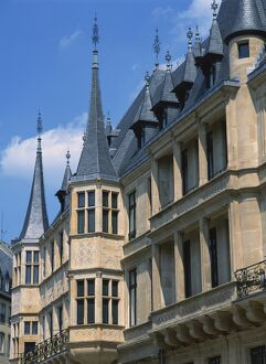Turrets on the Grand Ducal Palace in the city of Luxembourg