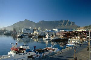 The V & A. waterfront and Table Mountain cape Town