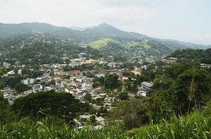 View of Kandy from lookout, Kandy, Sri Lanka, Asia