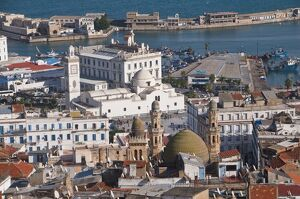 View over the Kasbah of Algiers, UNESCO World Heritage Site, Algiers, Algeria
