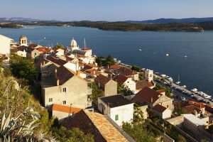 View of the old town and Cathedral of St. Jacob (Cathedral of St. James), UNESCO World Heritage Site, Sibenik, Dalmatia, Croatia, Europe