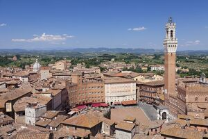 view old town including piazza del campo palazzo