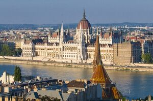 View of the Parliament Building, Budapest, Hungary, Europe