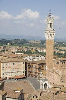 View of the Piazza del Campo and the Palazzo Pubblico